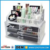 China Acrylic Cosmetic Storage Display Boxes, Wholesales cosmetic organizer with drawers,hot sales acrylic makeup organizer wholesale