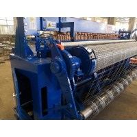 China PLC Compaction Wire Mesh Manufacturing Machine 1.2m Mesh Width on sale