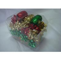 China Metallic , PET and polyester shining Gift Wrap Ribbon set with christmas tinsel wholesale