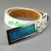 China LED Programmable Message Belt Buckles wholesale