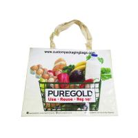 China Portable Custom Printed Shopping Bags , Biodegradable Shopping Bags PP Woven wholesale