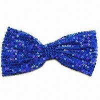 China Bow, Made of Sequin Tape, Measure 5 x 3-inch, Available in Various Colors wholesale