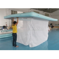 China 1000D Inflatable Water Games Netting Enclosure Floating Swimming Pool wholesale
