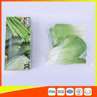 Resealable LDPE Clear Ziplock Freezer Storage Bags For Vegetable Biodegradable for sale