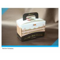 China Beautiful And Attractive Cake Packaging Paper Box Packaging With Take Away Handle wholesale