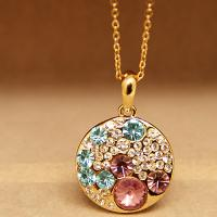 China Fashion Necklaces for Women 2015 Crystal Necklace Colorful Imitation Diamond Necklace Vintage Necklace Retro Necklace wholesale