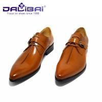 China Genuine Leather Dress Shoes Lace Up Pointed Toe Man Shoes US 6.5 ~ 10.5 Size wholesale