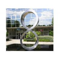 China Number Eight Large Steel Sculptures , Stainless Steel Garden Sculptures wholesale