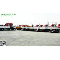 China DRZ 8x4 Sino truck ZZ5311 lorry truck mounted crane 57.8mT Palfinger SPK62002MH Knuckle boom cell:8615271357675 wholesale