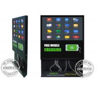 Buy cheap 21.5inch Mobile Phone Charging Cable inbuilt Advertising Screen Stand, Android Wifi Remote Control Digital Signage Totem from wholesalers