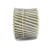 China 15 Degree .120''*3'' Bright Finish  Screw Shank Flat Head / Checked Head Pallet Coil Nails wholesale