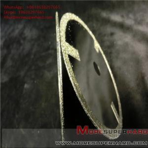 China Electroplated Diamond Cutting Blades & Discs Alisa@moresuperhard.com wholesale