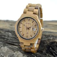 China Natural Eco Friendly Classic Men Watches , Mens Waterproof Watches With Wooden Strap wholesale
