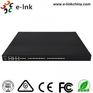 China Managed Ethernet Switch Fiber Optic 24 10Gbps SFP+ ports + 4 Gigabit TP / SFP combo ports wholesale