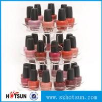 China 3 tiered round rotating acrylic nail polish display stand in cheap price wholesale