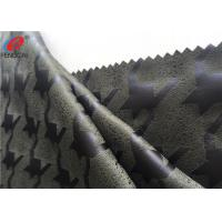 China Knitted Faux Micro Suede Polyester Fabric Embossed Home Textile Material For Upholstery on sale