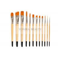 China Nylon Body Paint Brushes For Acrylic Oil & Watercolor Student Artist Brushes For Beginners & Fine Art Painters wholesale