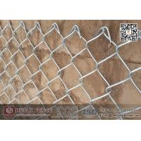 China 4.0mm Galvanised Chain Link Mesh Fence 50X50 mesh aperture on sale