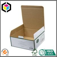 China Green Color Printed Paper Corrugated Box; Self-Locking Tab Paper Packaging Box wholesale