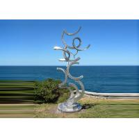 China Contemporary Art Stainless Steel Sculpture For Outdoor Decoration Anti Corrosion  wholesale