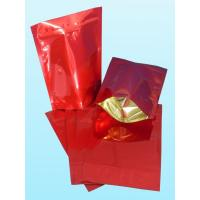 China Glossy Plain Red Foil Pouch Packaging Stand Up For Coffee Bean wholesale