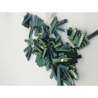 Quality Men / Women Strip Loose Bead Necklace Magnetic Hematite Jewelry Green Plating for sale