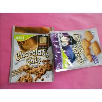 China OEM Stand Up Zipper Cookies / Snack Bag Packaging with Zip Top wholesale