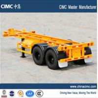 China CIMC tri-axle 30 tons 20 foot skeletal container chassis trailer wholesale