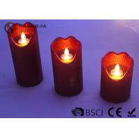 China Energy Saving Dancing Flame Led Candle With Moving Wick 210 / 280 / 320g wholesale