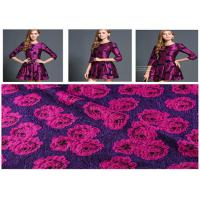 China 560g/M Vintage Rose Print Fabric , Roll Dyed Wool Print Fabric Anti Static wholesale