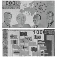 China Euro 1000 Silver Foil Banknote wholesale