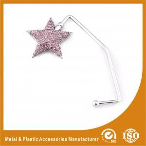 China Zinc Alloy Star Shape Purse Hook Hanger For Table Top Purse Hanger wholesale