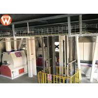 China Steel Structure Livestock Animal Feed Production Line 2-12 Mm Pellets Diameter wholesale