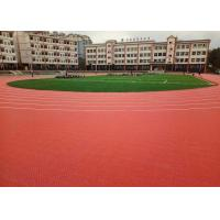 China Durable Removable Indoor Track Flooring , Anti Cracking Commercial Flooring wholesale