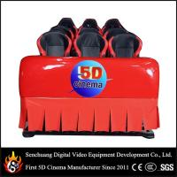 China 6 Dof Hydraulic 5D cinema / 9d cinema , 5D Movie Equipment with difference color wholesale