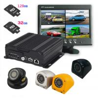 China AHD Four in one 4 cameras Dual SD Card Mobile DVR with 3G / 4G GPS WIFI , 1080P resolution wholesale