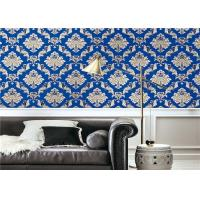 Buy cheap Blue Waterproof Classic Vintage Wallpaper For Walls Background , Vinyl Materials from wholesalers