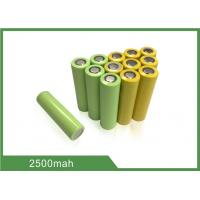 China 18650 Rechargeable Lithium Ion Cell 3.7V 2500mAh Storage Power Application wholesale