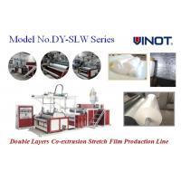 China Vinot Brand Cast Stretch Film Machine with two feed cylinder can adopt different material recipe  Model No. SLW-600 wholesale