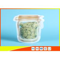 China Household Reusable Stand Up Ziplock Bags Food Can Shaped Plastic Packaging Bag / Mason Jar wholesale