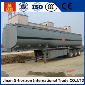 Quality 3 axles/tri-axle 45cbm q325 steel material fuel tank semi trailer for sale