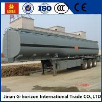 Quality 8X4 Oil Tank Truck Trailer / Fuel Tank Semi Trailer Q325 Steel Material for sale