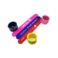 China Light Weight Silicone Slap Wristband Silk Screen Logo Processing Magnetic Clap Bands wholesale