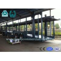 Double Layer Car Transport Trailers Carbon Steel 2 Axles Car Carrying Trailers