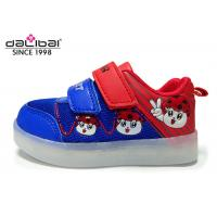 China PU Fabric Upper TPR Outsole Childrens LED Shoes , 7 Colors Blinking Shoes For Kids wholesale
