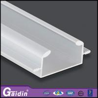 China aluminum extrude modern architectural CNC curved woodgrain kitchen cabinet shower door handle profiles wholesale