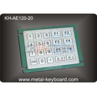 China IP65 Rated Water - proof Metal Numeric Digital Keypad in 5x4 Matrix 20 Keys wholesale