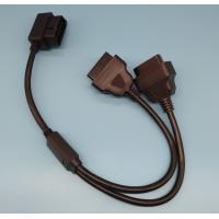 China 26AWG J1962 OBD II Connector Cable Y Shape With Right Angle Pins wholesale