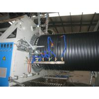 China HDPE / PP Hollow Corrugated Plastic Pipe Extrusion Line , Big Diameter 200mm - 2000mm wholesale
