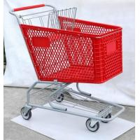 China Plastic Trolley, American Type Shopping Cart, Supermarket Trolley ,Shopping Trolley ,Hand Trolley wholesale